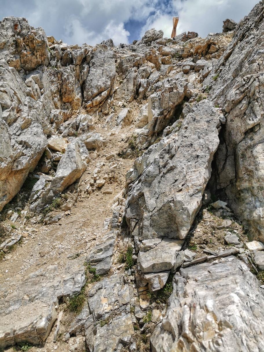 Letzte Kraxelpassagen, der Gipfel ist in Reichweite