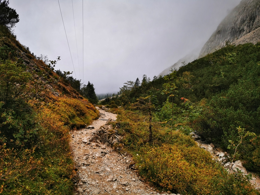 Gemütlicher Weg kurz vor der Höllentalangerhütte