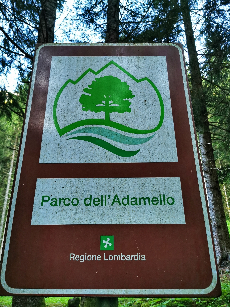 Hier beginnt offiziell der Parco dell' Adamello