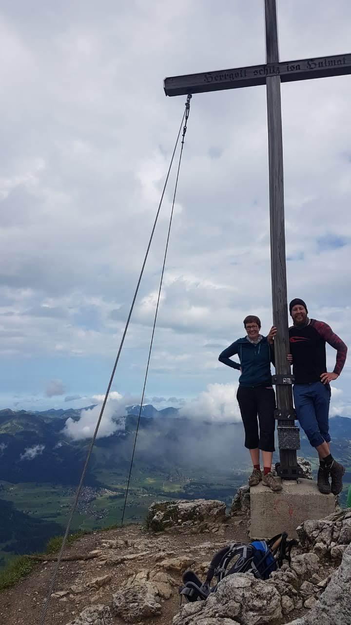 Am Gipfel des Rubihorns (1.957m)