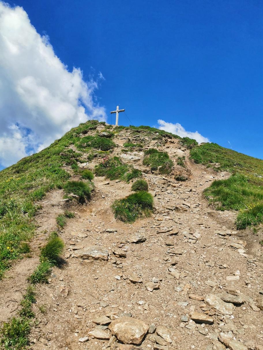 Gipfelaufbau am Rosskopf, jetzt ist der Gipfel gleich erreicht