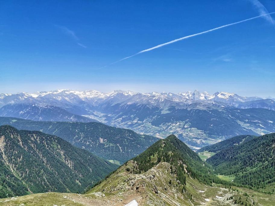 Tolles Panorama am Gipfel