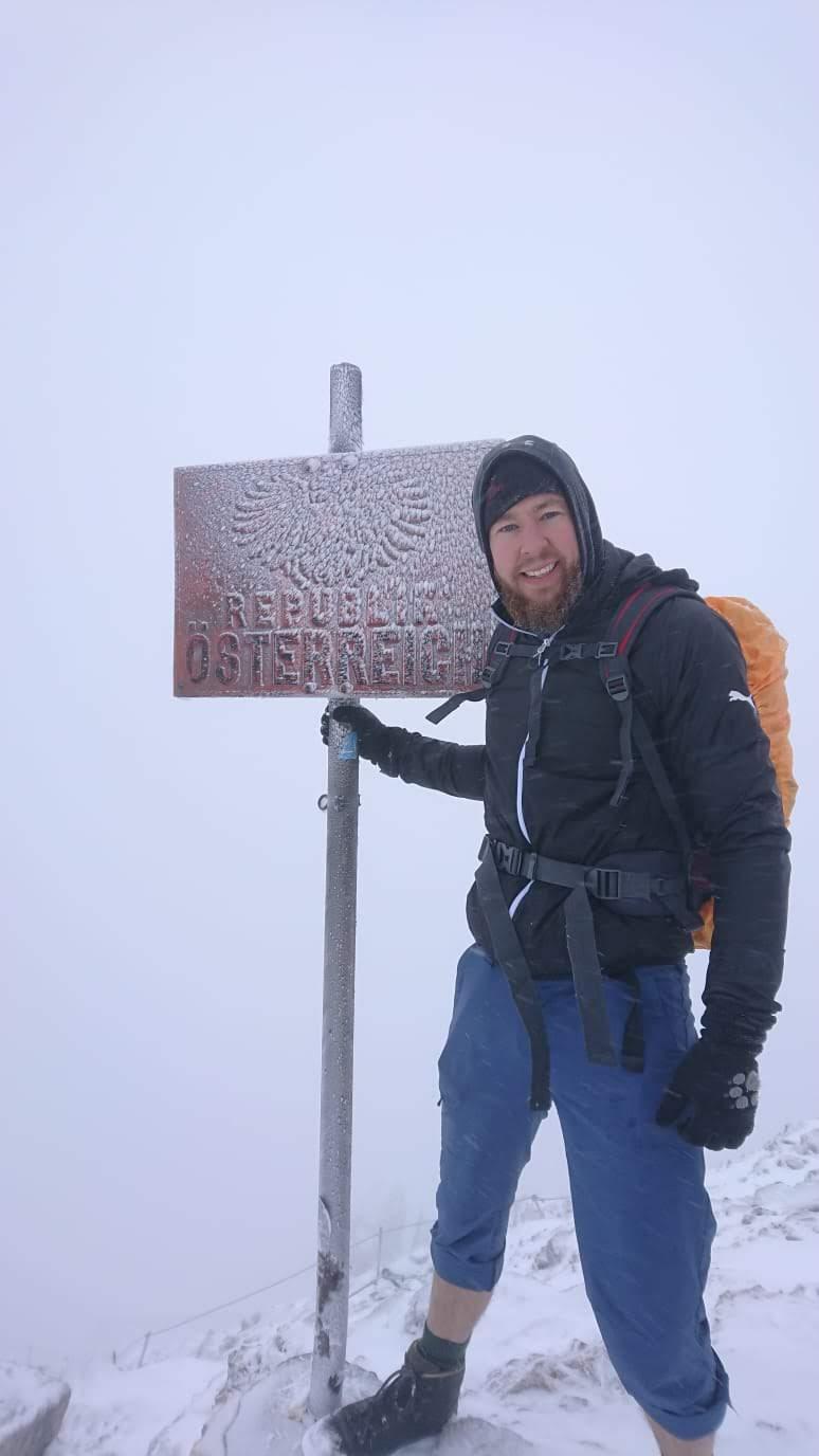 An der Grenze zu Östereich kurz unterm Gipfel
