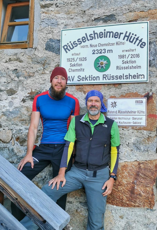 Mit Michael an der Rüsselsheimer Hütte