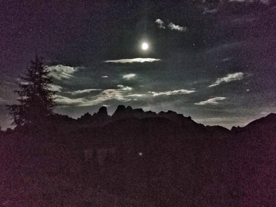 Wunderschöne Stimmung in der Nacht bei Vollmond