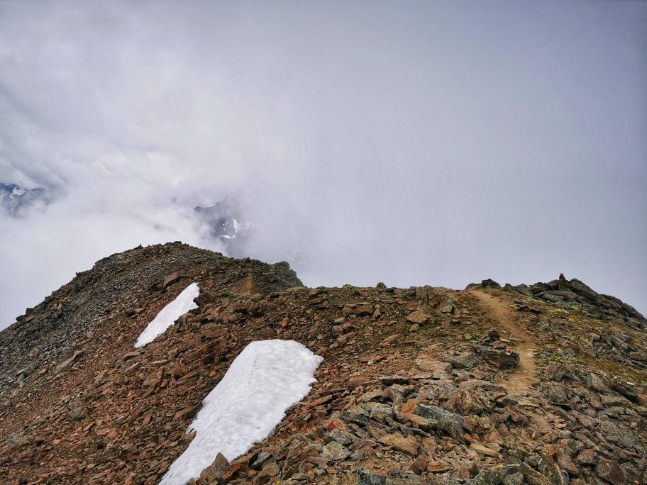 Der Grat beim Abstieg