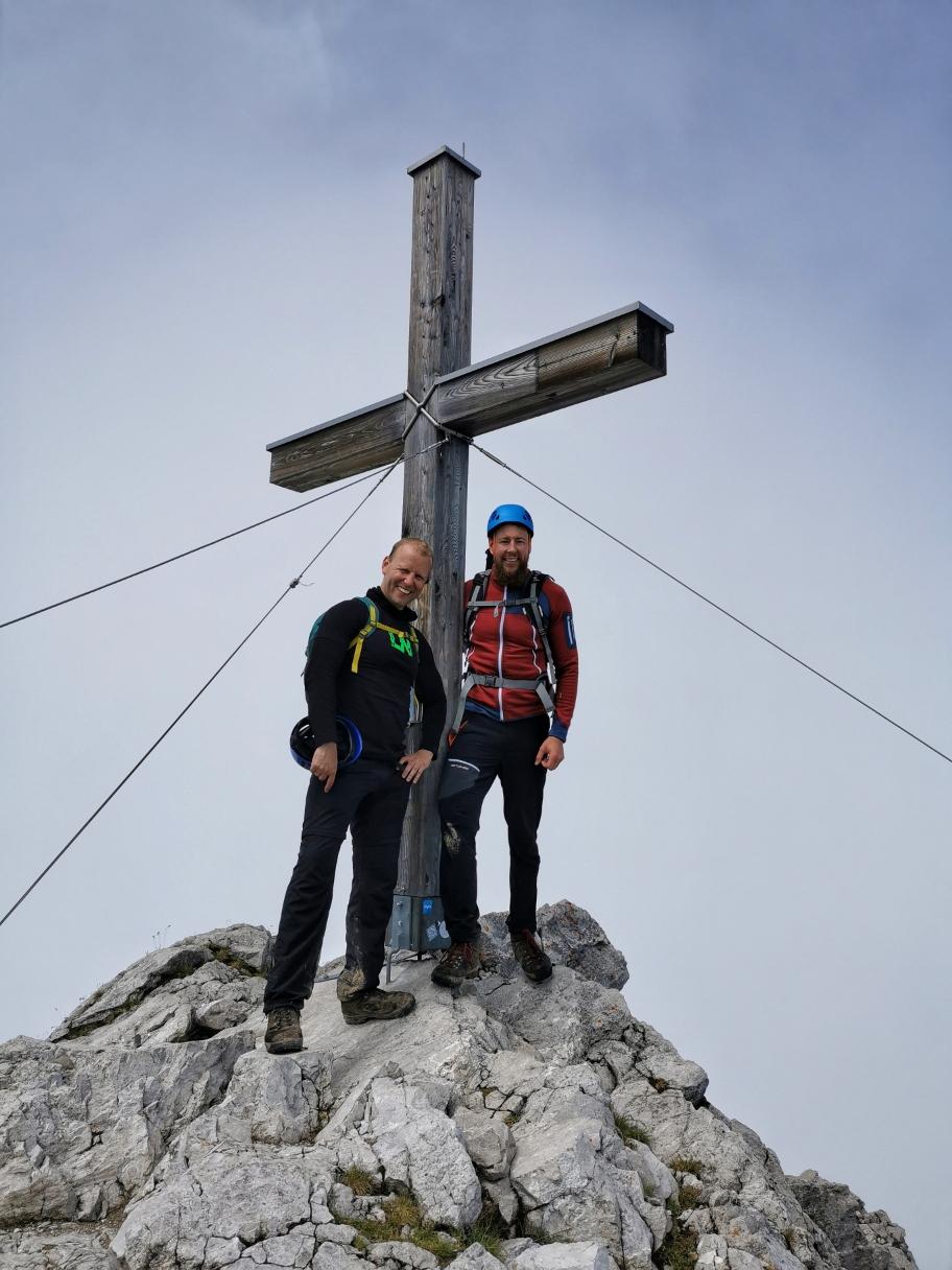 Am Ziel: Großer Widderstein 2.533m