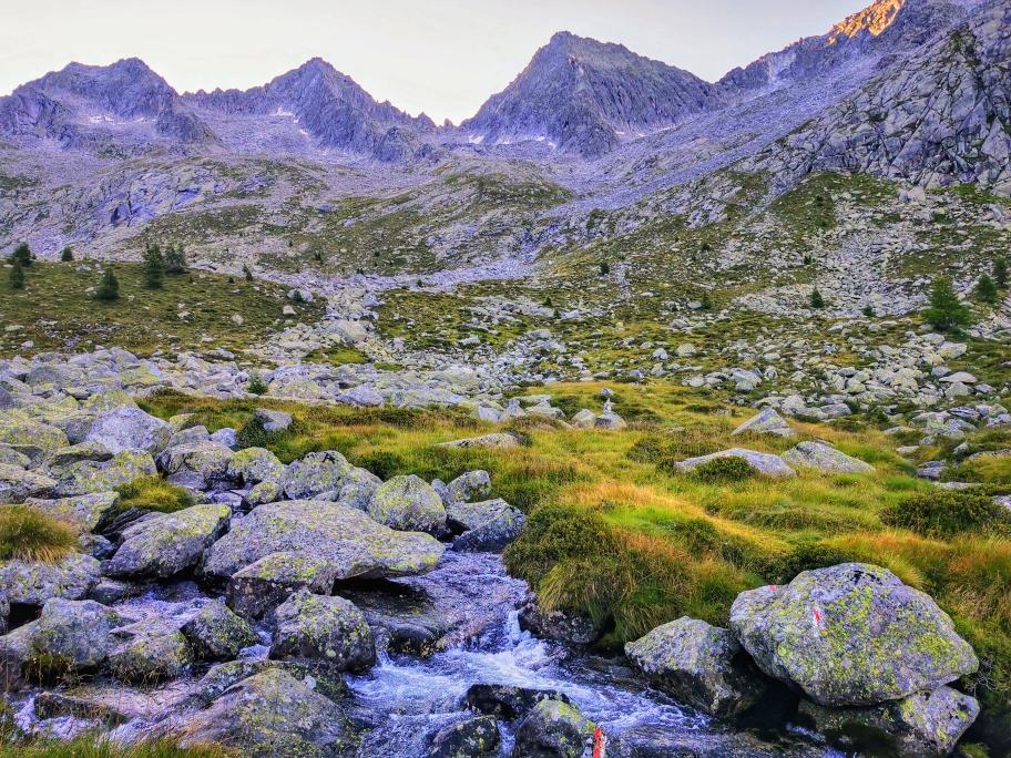 Blick auf den Passo Miller auf 2.818m