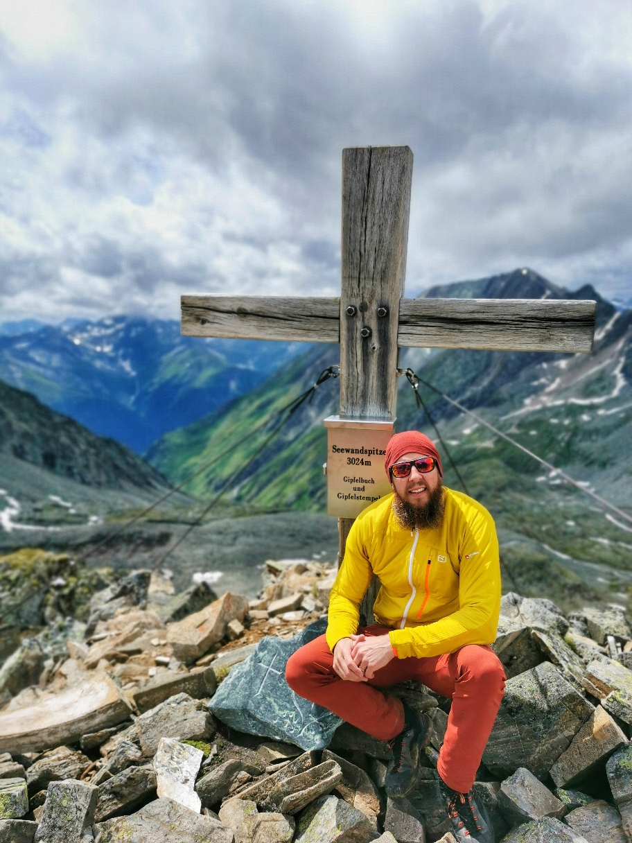 Am Gipfel der Seewandspitze