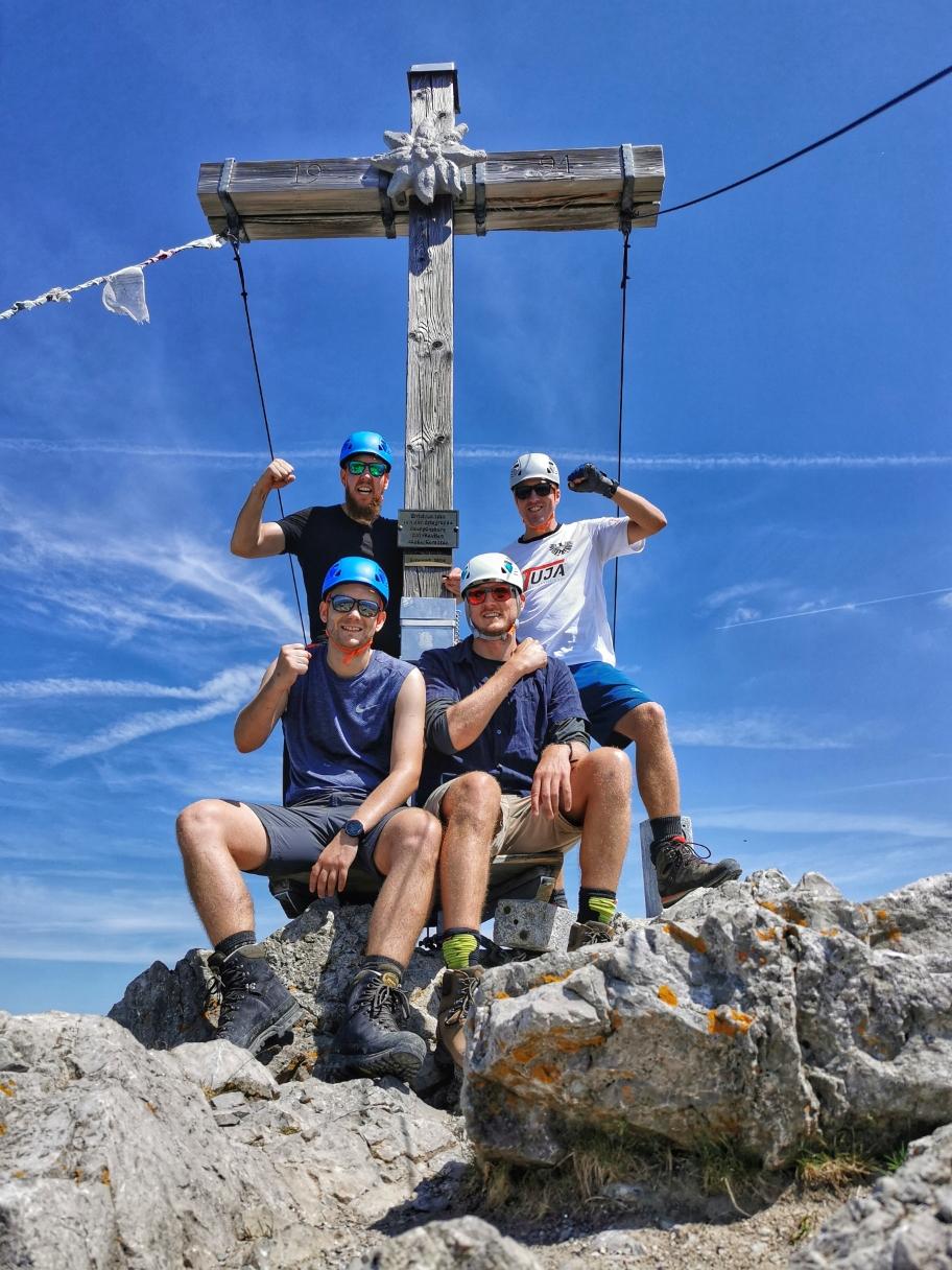 Am Gipfel des Biberkopf 2.599m