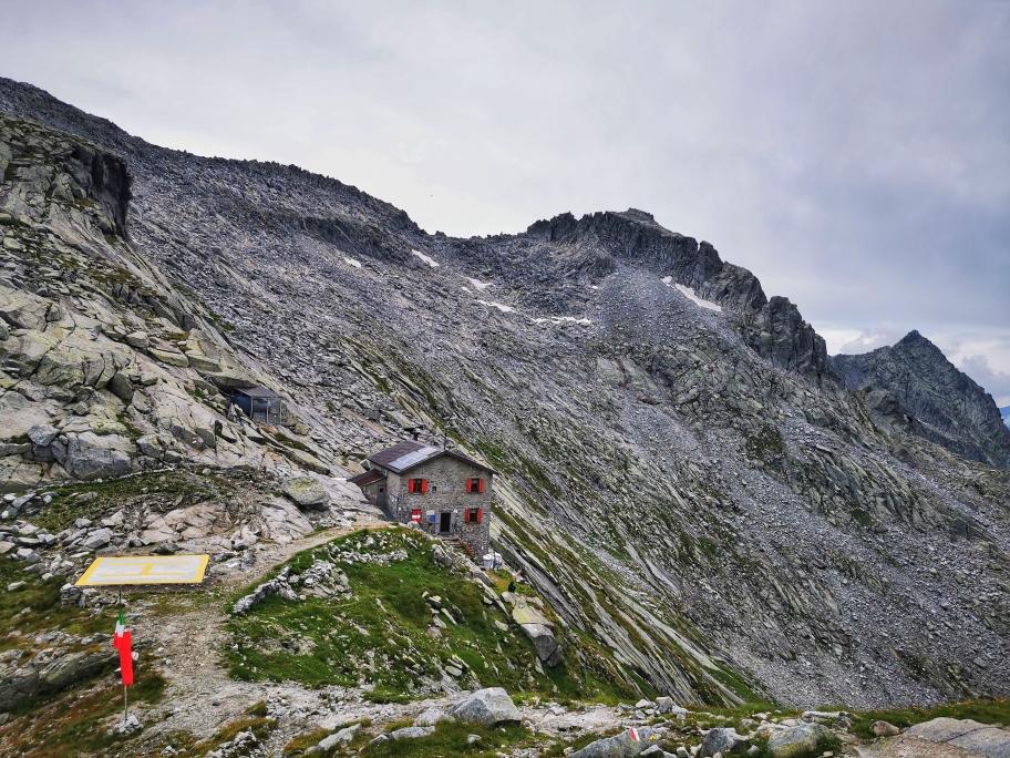 Das Rifugio Maria é Franco in spektakulärer Lage