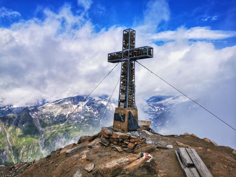 Super Aussicht auf der Kreuzspitze (3.164m)