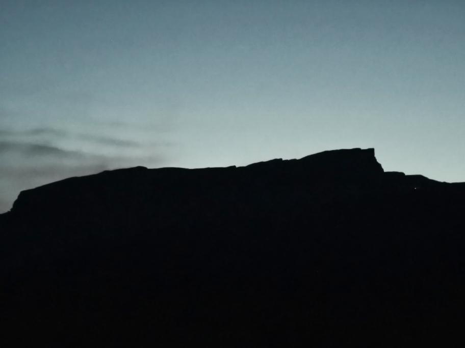 Der Hohe Ifen im letzten Licht des Tages