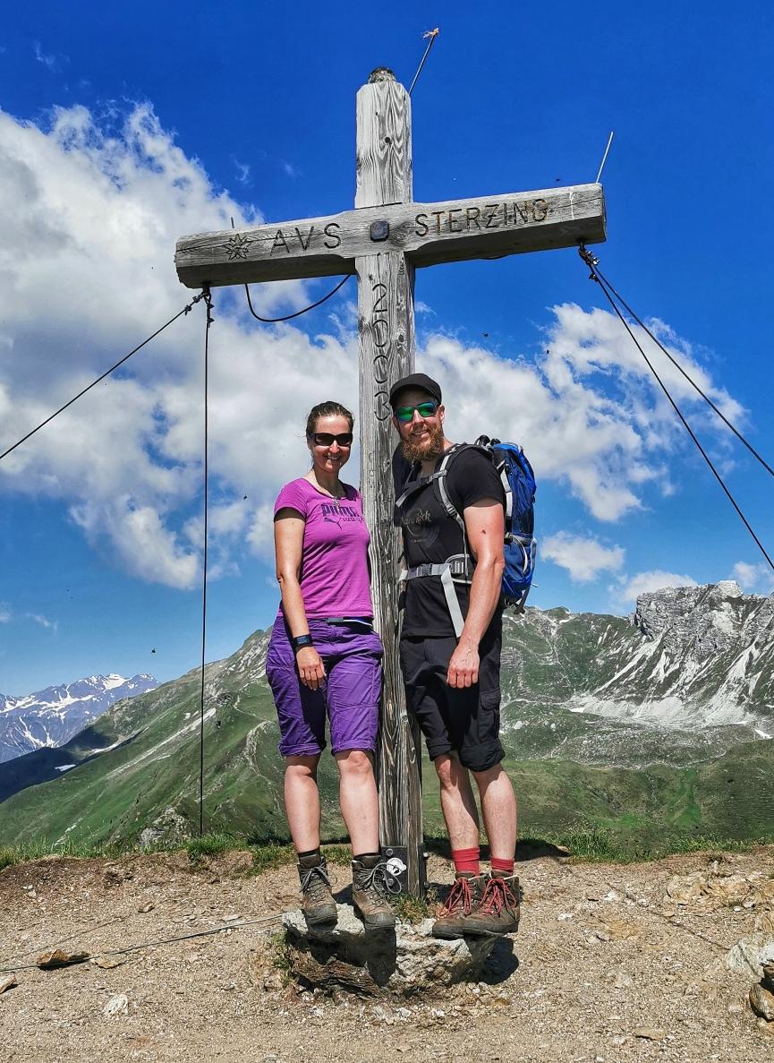 Am Gipfel des Rosskopf auf 2.189m