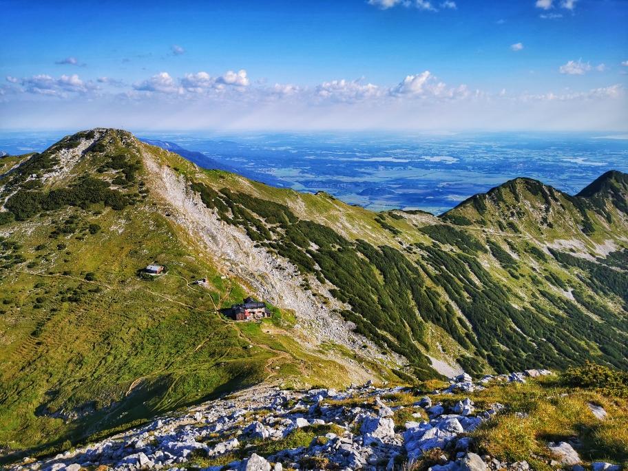 Schöner Blick auf die Weilheimer Hütte