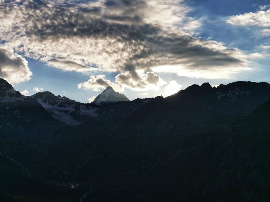 Sonnenuntergang mit Blick auf die Königsspitze