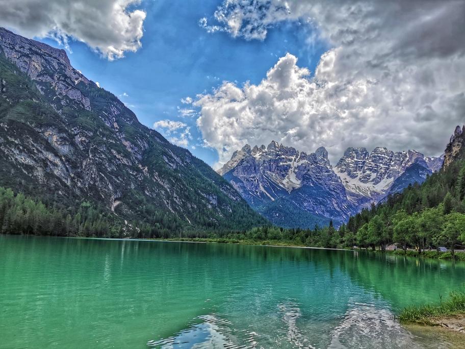 Der Monte Cristallo thront über dem Dürrensee