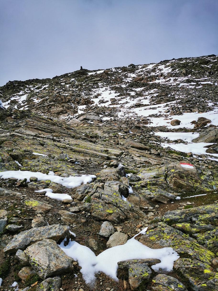 Aufstieg zum Gipfel Im Hinteren Eis