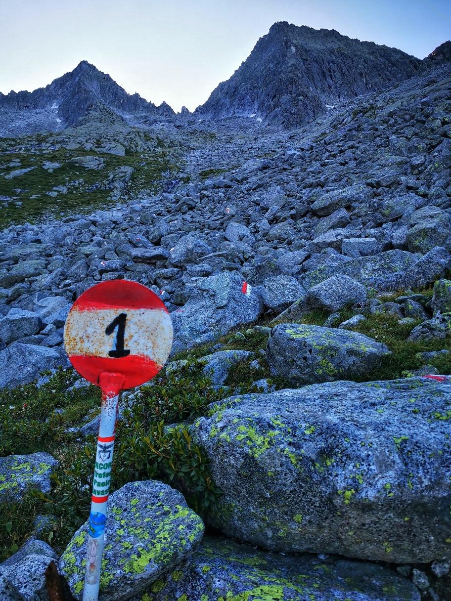 ... verläuft der Weg auf dem Alta Via Adamello 1...