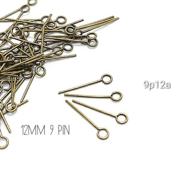 約100本 12mm9ピン高品質 金古美【9p12a】