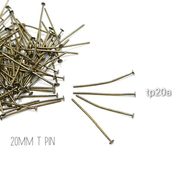 約100本 20mmTピン高品質 金古美【tp20a】