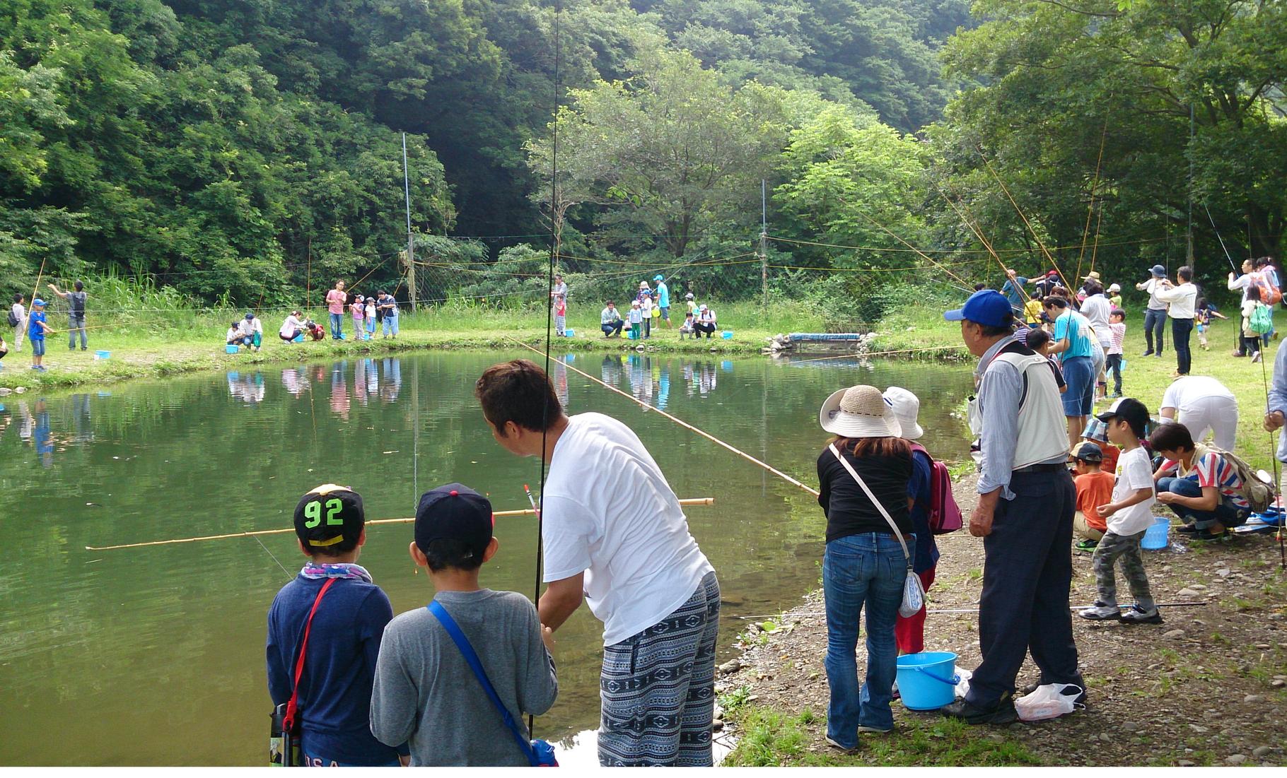 上大島で行われた釣り教室
