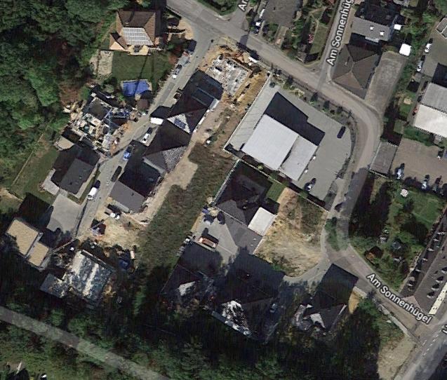 Das neue Wohngebiet ensteht (c) Google Earth 11/2019