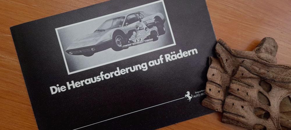 """""""Auto Becker"""" Ferrari Modellpalette 1976"""