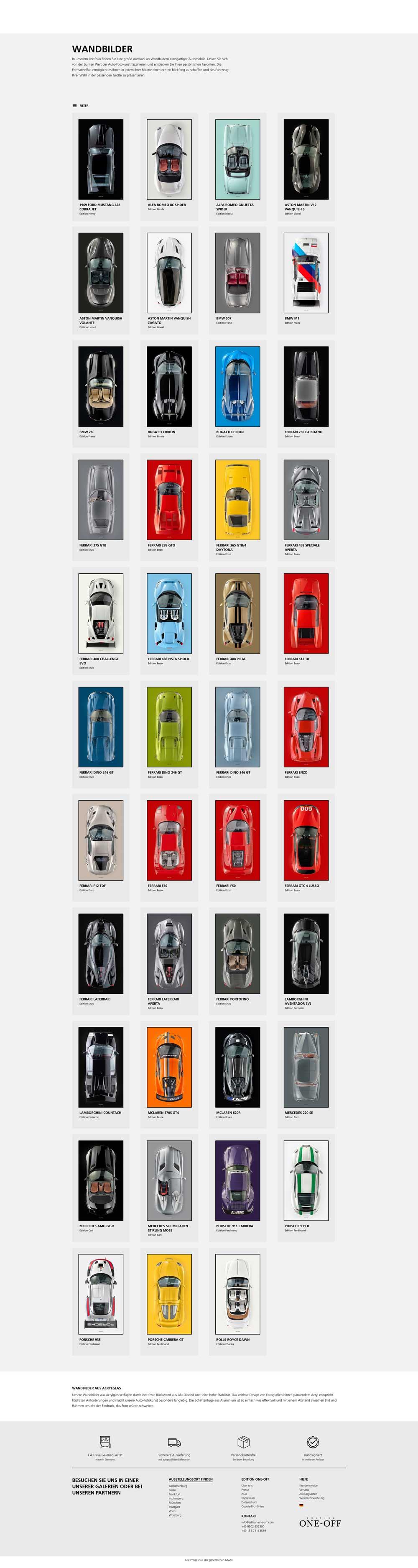 Scuderia GT: Wandbilder - EDITION ONE-OFF