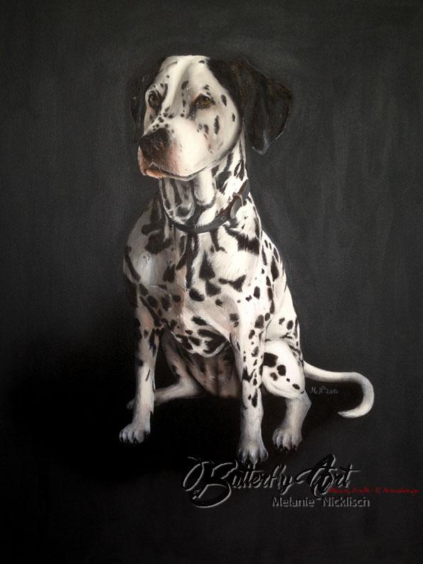 Maler Nünchritz, Riesa, Meißen, Großenhain Portrait Hund von Butterfly-Art Melanie Nickisch