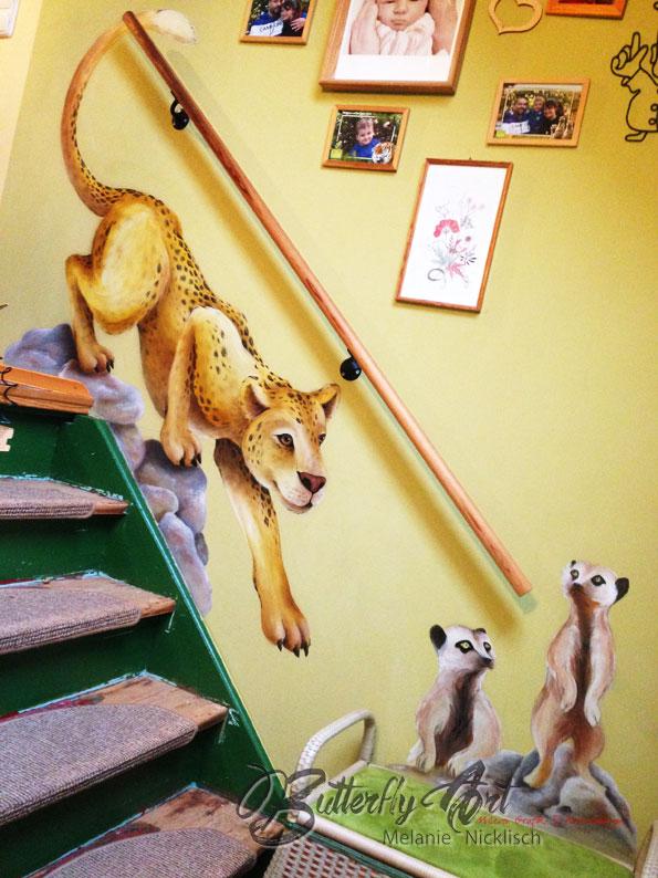 individuelle Wandmalerei im Treppenhaus in Riesa, Meißen, Nünchritz, Großenhain, von Butterfly-Art Melanie Nicklisch