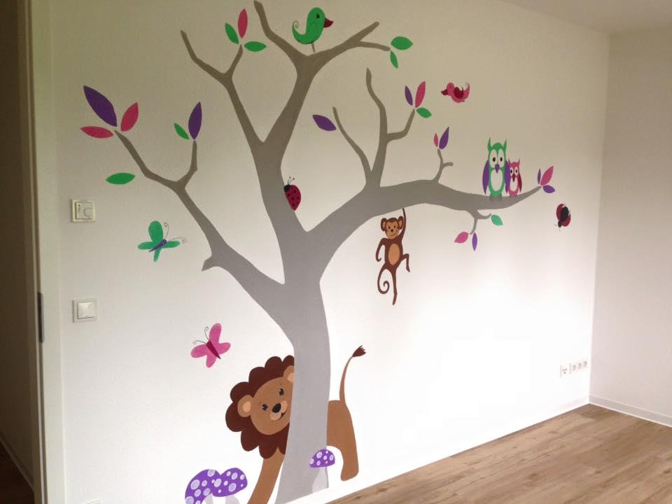 Wandmalerei in Pastelltönen für's Kinderzimmer in Riesa, Meißen, Nünchritz, Großenhain, von Butterfly-Art Melanie Nicklisch