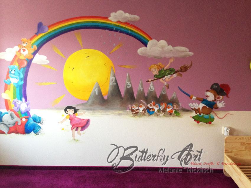 Comicfiguren als Wandmalerei für's Kinderzimmer in Riesa, Meißen, Nünchritz, Großenhain, von Butterfly-Art Melanie Nicklisch