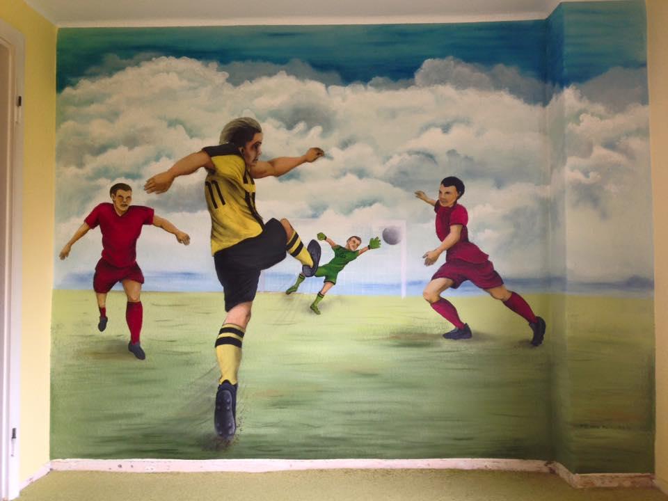 individuelle Wandmalerei Fußballwand in Riesa, Meißen, Nünchritz, Großenhain, von Butterfly-Art Melanie Nicklisch