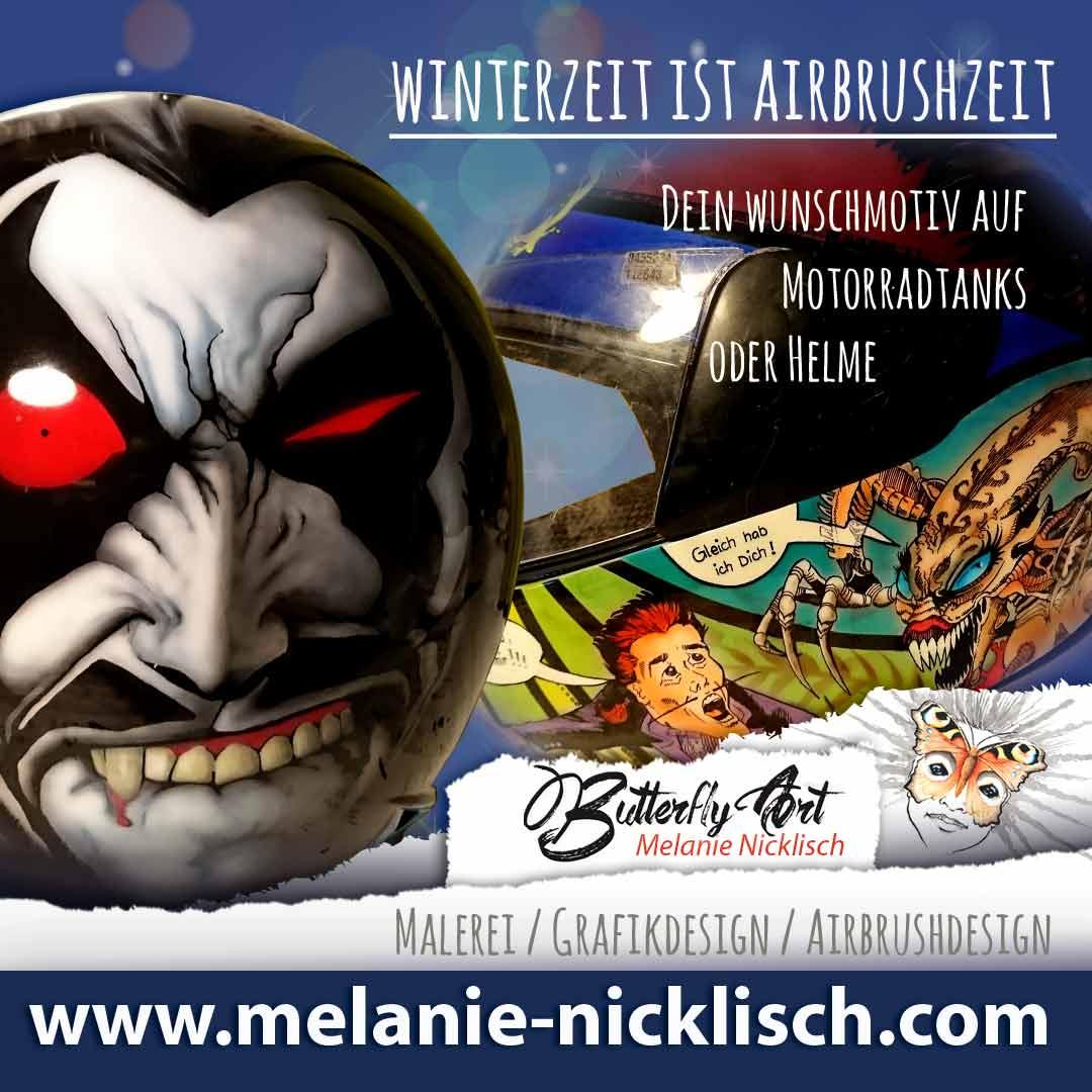 Maler Nünchritz, Riesa, Meißen, Großenhain, Airbrush von Butterfly-Art Melanie Nickisch