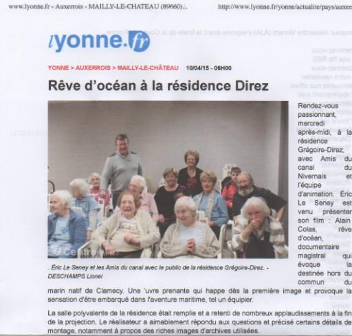 Yonne Républicaine, 10/04/2015