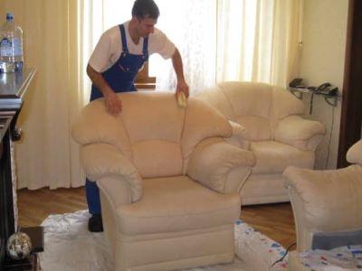 чистка кожаной мебели профессионально в Москве и Московской области