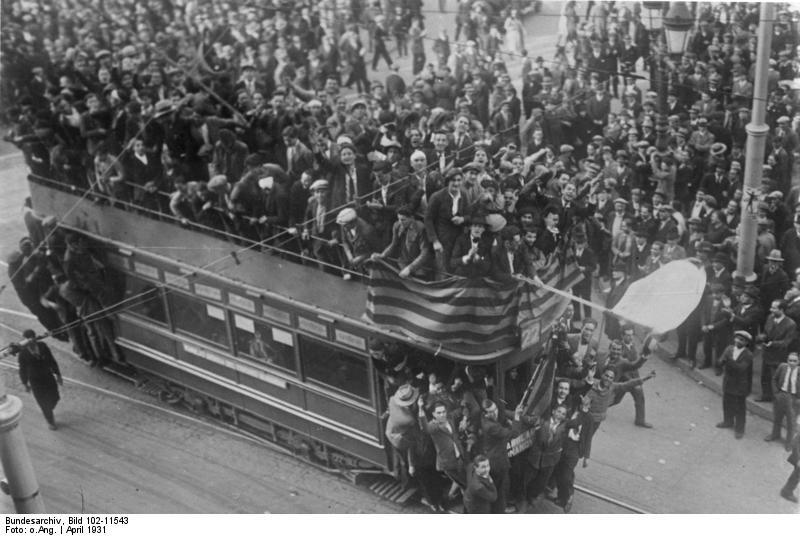 actes de celebració de la proclamació de la república a Barcelona