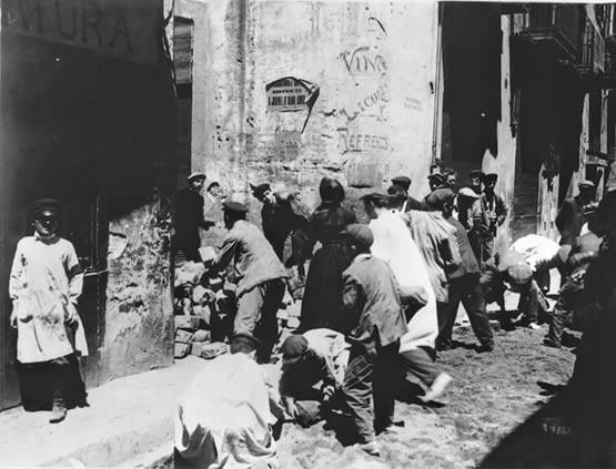 barricades durant la Setmana Tràgica