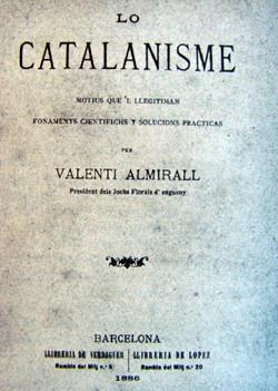 Lo Catalanisme, obra de Valentí Almirall