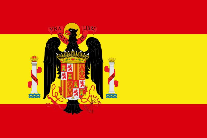 bandera de l'espanya franquista