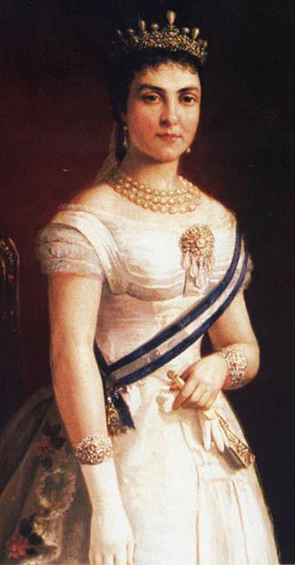 La reina Maria Cristina d'Habsburg