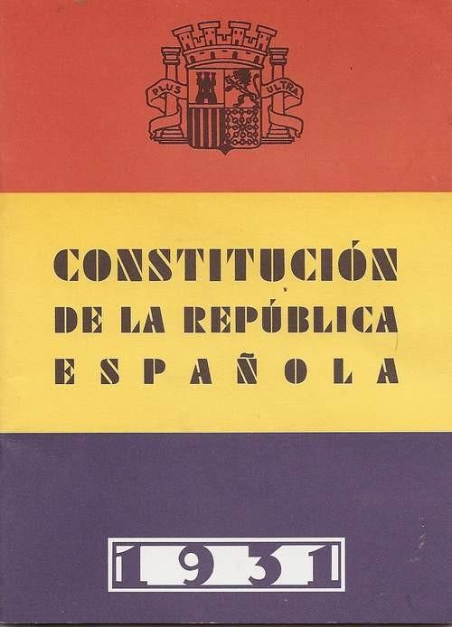 portada de la Constitució de 1931
