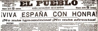 portada de premsa espanyola sobre la guerra a Cuba
