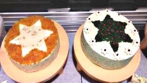 Hausgemachte pikante Frischkäse Weihnachtstorten Käse-Ober in Grafing