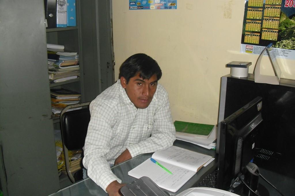 Br. Percy Aponte Huamantinco - Responsable Técnico de la JUDRA