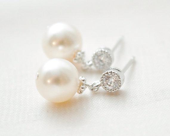 Brautschmuck ohrringe perlen  Ohrringe/Ohrstecker - Brautschmuck, Schmuckdesign und Glasperlen ...