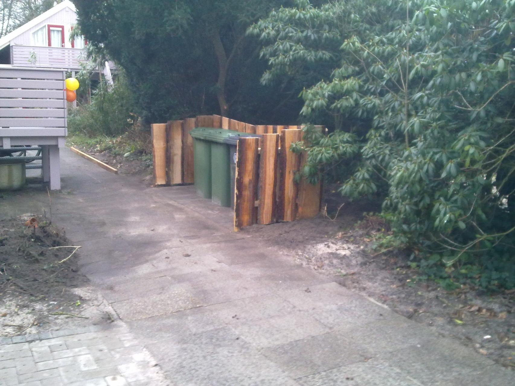 Containerruimte van douglas schaaldelen, Schoorl