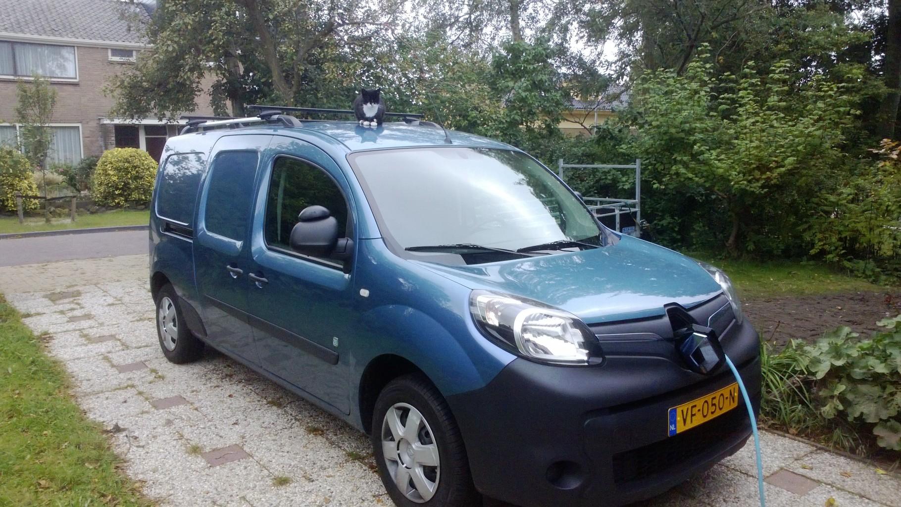 100% elektrisch aangedreven bedrijfsvoertuig, Renault Kangoo,