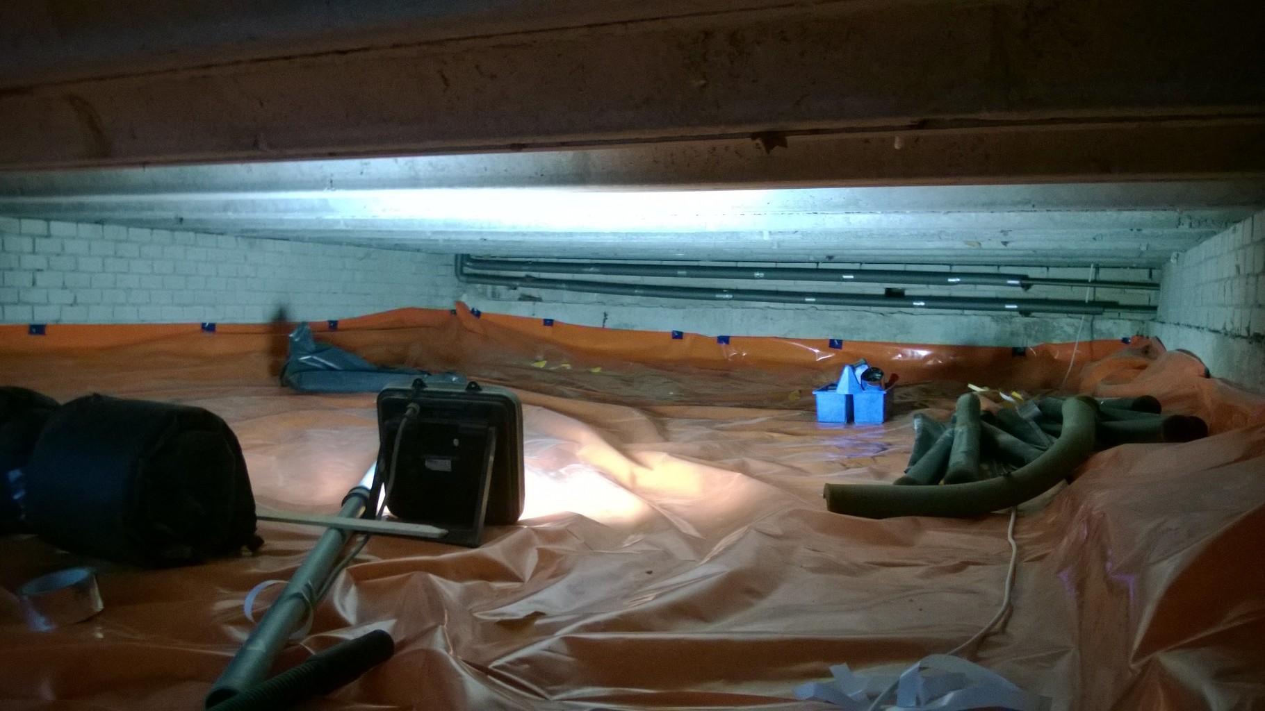 Tonzon vloerisolatie met thermoskussens en bodemfolie